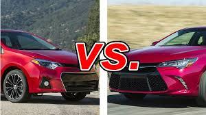 toyota yaris vs corolla comparison toyota corolla vs toyota camry carsdirect