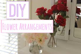Diy Flower Arrangements Diy Flower Arrangements With Acrylic Water Youtube