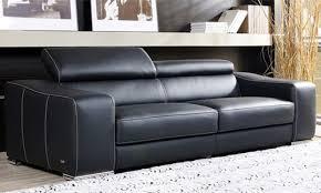 canapé discount cuir canap fixe 3 places en cuir coloris noir vente de g 582133