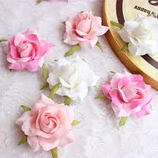 silk roses 6cm artificial decorative flower gold silk heads real touch