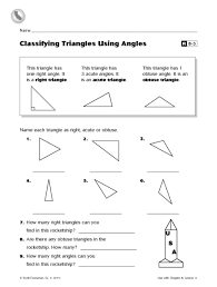 classifying triangles using angles r8 3 3rd 4th grade worksheet