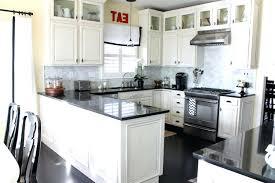 Black Appliances Kitchen Ideas White Kitchen Cabinets With Black Appliances Fitnessarena Club