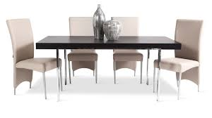 norah modern espresso wood dining table with chrome legs zuri