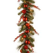 pre lit christmas tree national tree co decorative pre lit christmas mixed garland