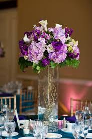 Purple Flowers Centerpieces by Altadena Town U0026 Country Club Wedding By Jason Q Tran Willow