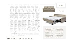 Sofa Length American Leather Gina American Leather Gina Queen Sleeper Sofa
