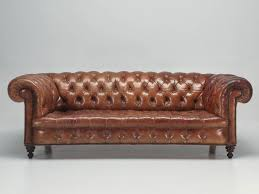 Leather Club Sofa Antique Leather Chesterfield Sofa In Original Leather For Sale