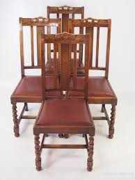 Vintage Wooden Dining Chairs Set 4 Vintage Oak Dining Chairs Circa 1920s Antiques Atlas