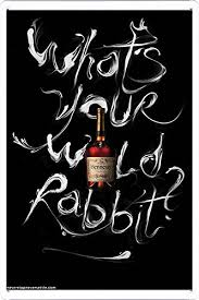 rabbit poster hennessy cognac rabbit tin poster by food