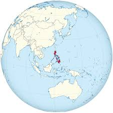 Map Globe File Philippines On The Globe Philippines Centered Svg