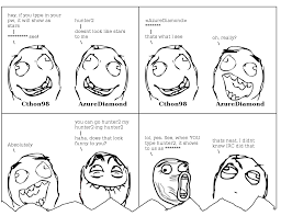 Rage Meme Comics - irc log to rage comic generator