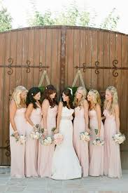 soft pink bridesmaid dresses villa san juan capistrano wedding from dittoe