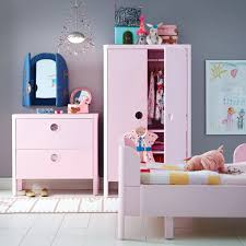 wardrobe splendid kids bedroom with white walls and a light pink