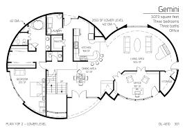 pretentious 1 monolithic home floor plans plans multi level dome
