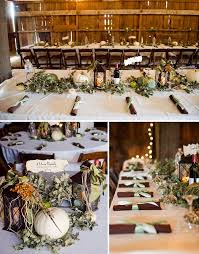 Fall Wedding Centerpiece Ideas On A Budget by Real Wedding Kara Seth U0027s Fall Barn Wedding Barn Barn