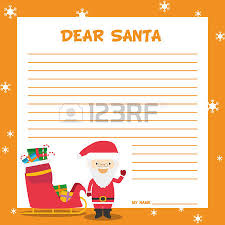 santa claus letter template vector illustration for christmas