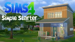 simple houses sims 4 simple starter house walk through youtube