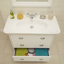 900mm Bathroom Vanity by Valencia White 900mm 3 Drawer Vanity Unit Closet Pinterest