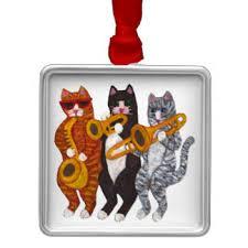 cats in jazz band ornaments keepsake ornaments zazzle