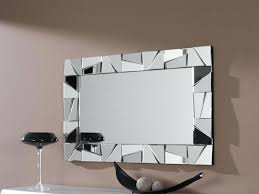 wall ideas allen roth silver beveled wall mirror modern