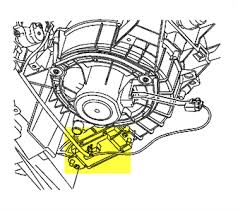 solved location of blower motor resistor 2005 chevy fixya