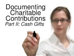 documenting charitable gifts