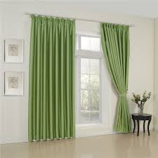 Stylish Blackout Curtains Stylish Blackout Polyester Material Green Room Curtains