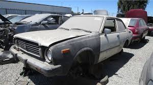 toyota california junkyard treasure 1978 toyota corolla autoweek