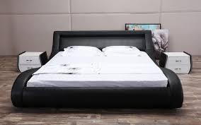 Modern Platform Bed With Lights - amazon com vega modern platform bed queen with headboard lights