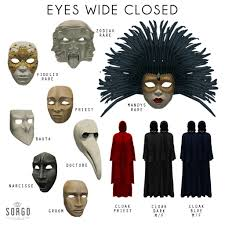 eyes wide shut halloween mask sorgo