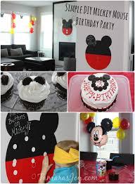 mickey mouse birthday party ideas diy mickey mouse birthday party decor tamara s