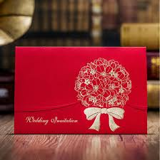 Marriage Wedding Cards Aliexpress Com Buy Chinese Red Marriage Invitation Card Luxury