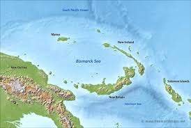 sea of map bismarck sea map by freeworldmaps