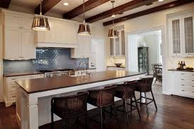 Cottage Kitchen Island by Rustic Cottage Kitchen Exposed Beams Pendants Backsplash
