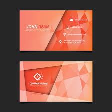 visitenkarten design kostenlos orange abstrakte visitenkarten design der kostenlosen