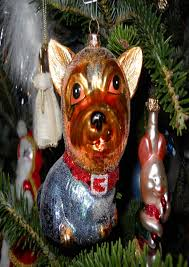 dog ornaments for christmas tree home decorating interior