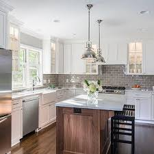 Subway Tiles For Backsplash In Kitchen Kitchen With Gray Subway Tiles Transitional Kitchen Sicora
