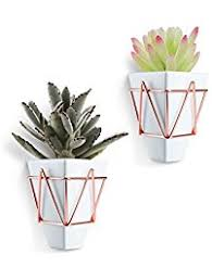 White Hanging Planter by Hanging Planters Amazon Com