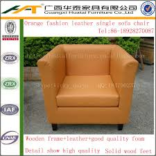 Orange Sofa Chair Orange Leather Sofa Orange Leather Sofa Suppliers And