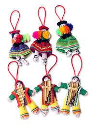 peruvian ornaments unicef market set 6 handcrafted folk