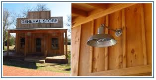classic gooseneck barn lights for 1920s style general store
