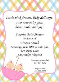 Babyshower Invitation Card Twin Baby Shower Invitations Theruntime Com