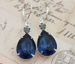navy blue earrings navy blue gray montana blue navy wedding jewelry black diamond