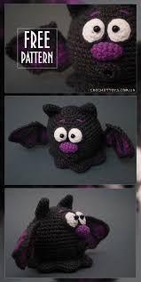 Bat Halloween Craft by Free Pattern Crochet Bat For Halloween Http Crochettoys Com Ua
