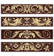 ornamental vintage decoration border vector