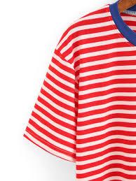 Rebel Flag Lingerie T Shirt Mit Pizza Druck Und Streifen Bunt German Shein Sheinside
