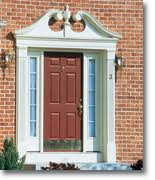 Exterior Door Pediment And Pilasters Vinyl Door Surrounds Fypon Entrance Systems Pilasters And