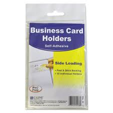 Clear Business Cards Self Adhesive Business Card Holders By C Line Cli70238