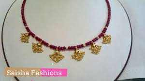 bead design jewelry necklace images Simple gold necklace with beads designs jpg