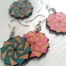 green tree earrings 135 best laser cut jewelry images on green trees